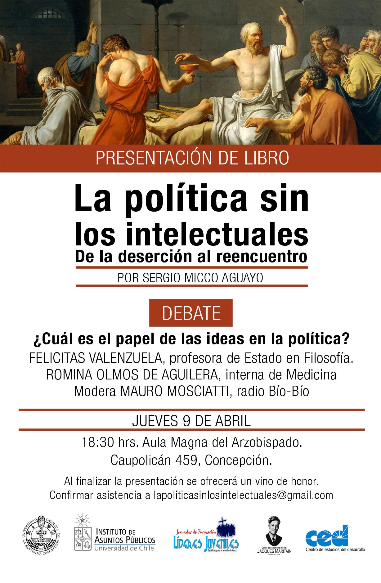 Afiche-La-politica-sin-los-intelectuales_Sergio Micco